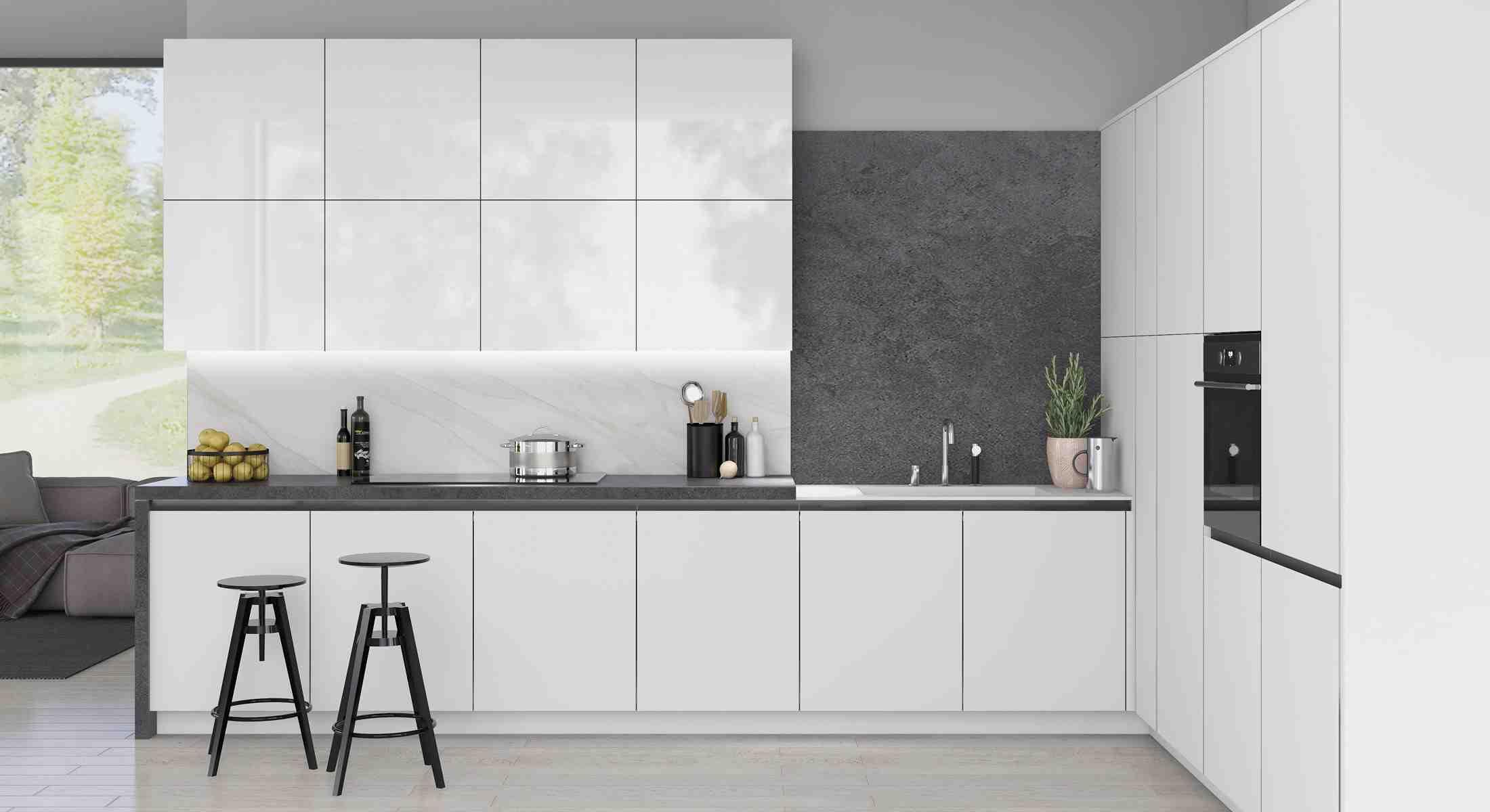 kitchens in burryport, wales by steve williams - vassa gloss - true handleless