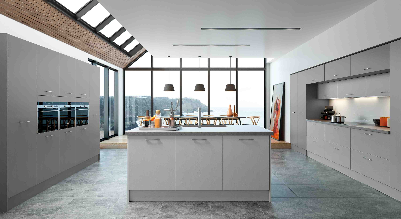 kitchens in burryport, wales by steve williams - hyde - embossed grain painted