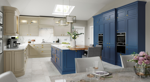 kitchens in burryport, wales by steve williams - belgravia - painted to order