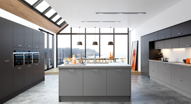 kitchens in burryport, wales by steve williams - cutler - serica super matte