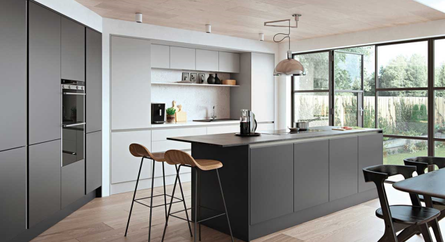 kitchens in burryport, wales by steve williams - cutler - serica - true handleless