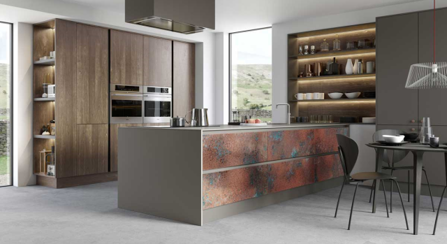 kitchens in burryport, wales by steve williams - ferro - weathered - true handleless