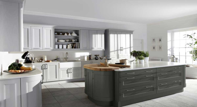 kitchens in burryport, wales by steve williams - kew - painted to order