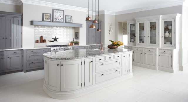 kitchens in burryport, wales by steve williams - langton - painted