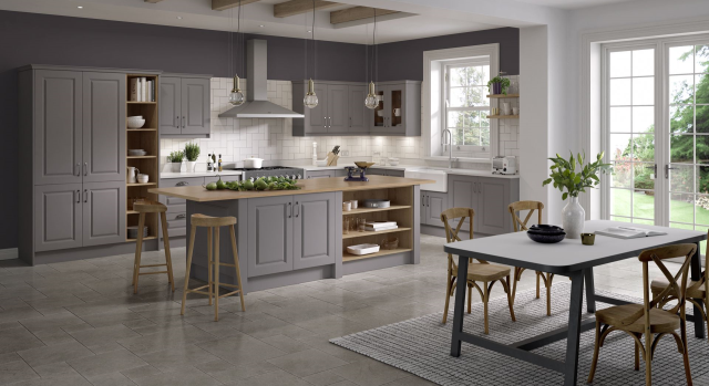 kitchens in burryport, wales by steve williams - lincoln - serica - stock