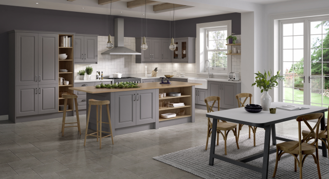 kitchens in burryport, wales by steve williams - lincoln- serica super matte