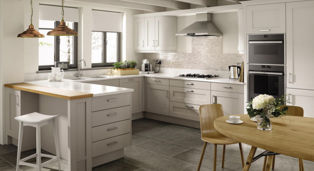 kitchens in burryport, wales by steve williams - mornington - shaker - painted