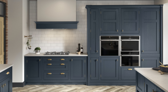kitchens in burryport, wales by steve williams - clarendon - painted to order