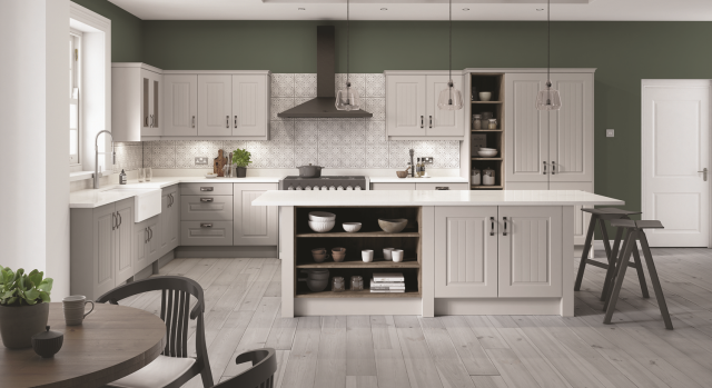 kitchens in burryport, wales by steve williams - newport - serica - stock