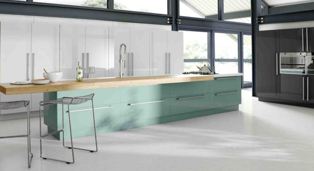 kitchens in burryport, wales by steve williams - phoenix - gloss metallic