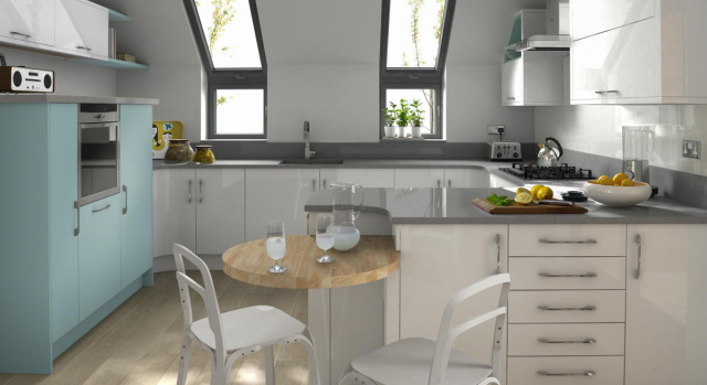 kitchens in burryport, wales by steve williams - porter - gloss - painted to order