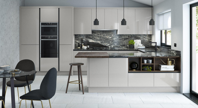 kitchens in burryport, wales by steve williams - porter - gloss - true handleless