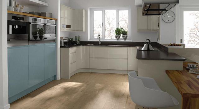 kitchens in burryport, wales by steve williams - remo - gloss - painted to order