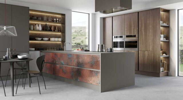 kitchens in burryport, wales by steve williams - rezana - stained to order - true handleless