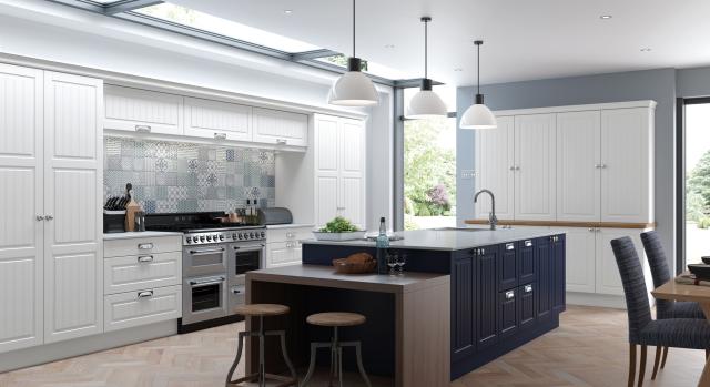 kitchens in burryport, wales by steve williams - berwick - serica super matte