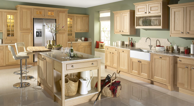 kitchens in burryport, wales by steve williams - tetbury - natural oak