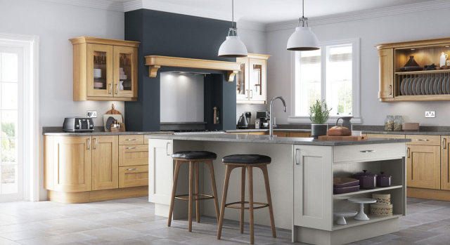 kitchens in burryport, wales by steve williams - wakefield - oak
