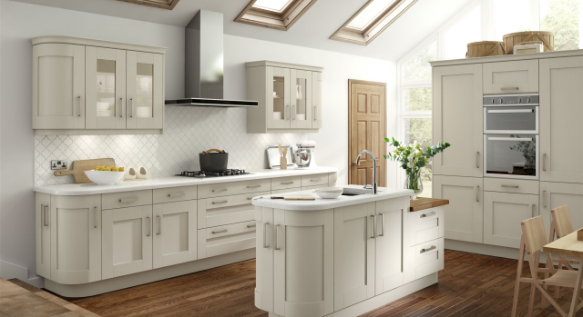 kitchens in burryport, wales by steve williams - albany - painted ivory