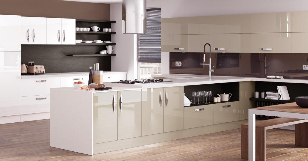 White gloss kitchen for Gloss white kitchen ideas