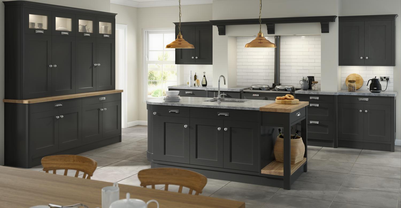 Hartford Painted Graphite Kitchen Trade Kitchen Details