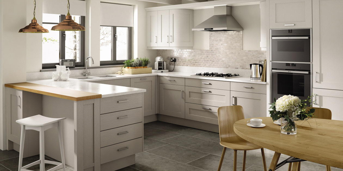 Moray fitted kitchens quality fitted kitchens in moray for Shaker style kitchen grey