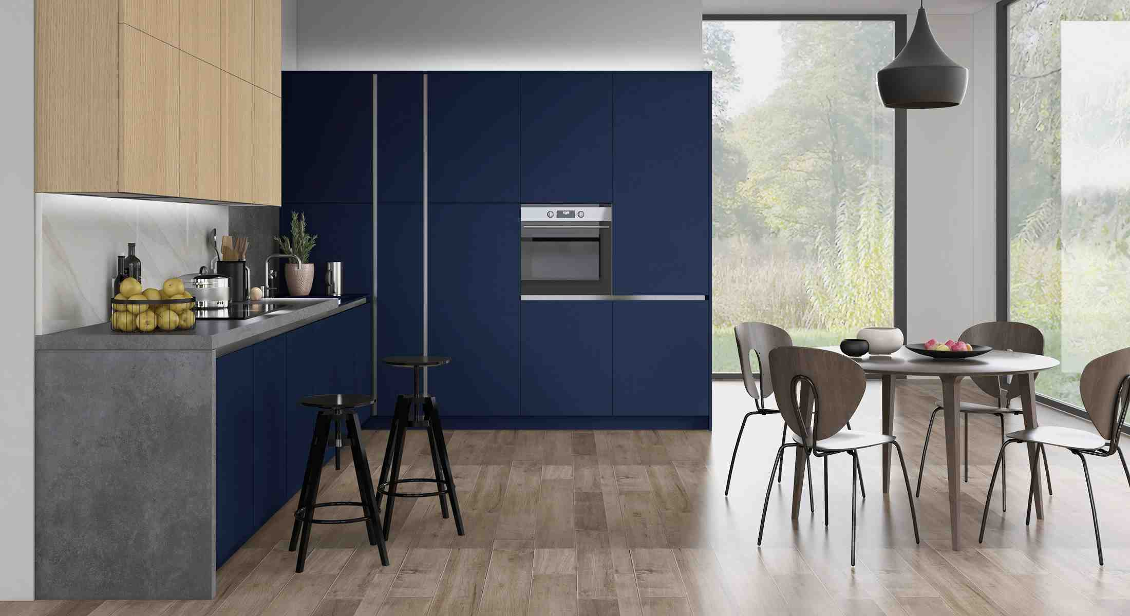 the vassa matt is a flat slab cut and egded door available in a selection of egger uni colours,