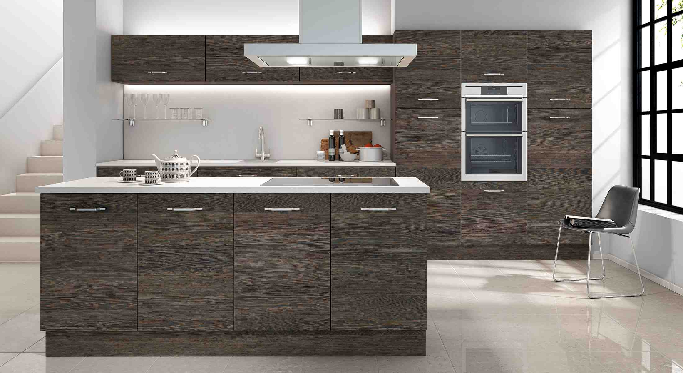 give your kitchen the natural feel, with the vassa structures, cut and edged door, now including some of the latest, most realistic woodgrain finishes available