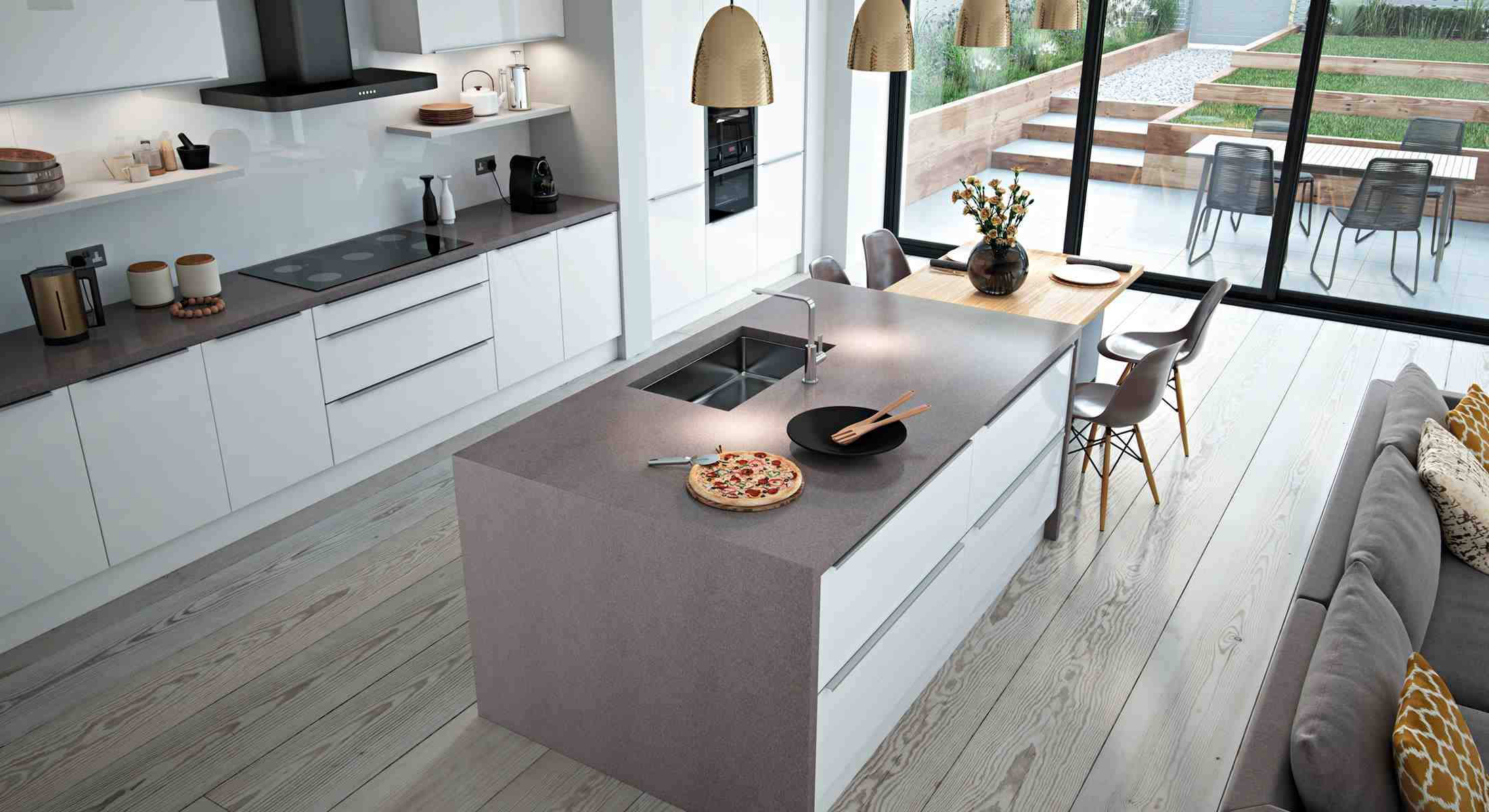 vassa gloss offering a selection of gloss flat slab, cut and edged doors at an affordable price.